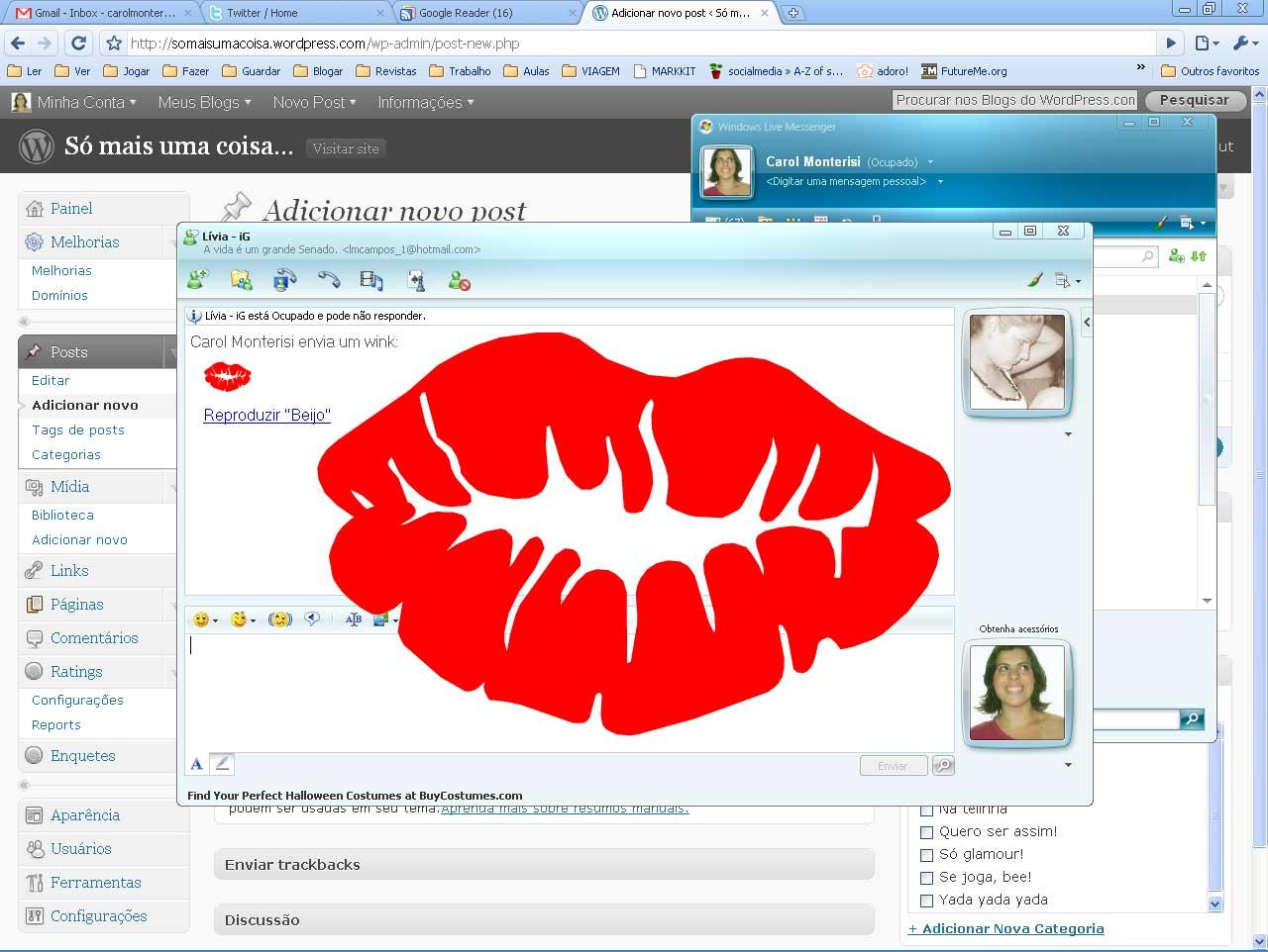 emoticons para msn beijo